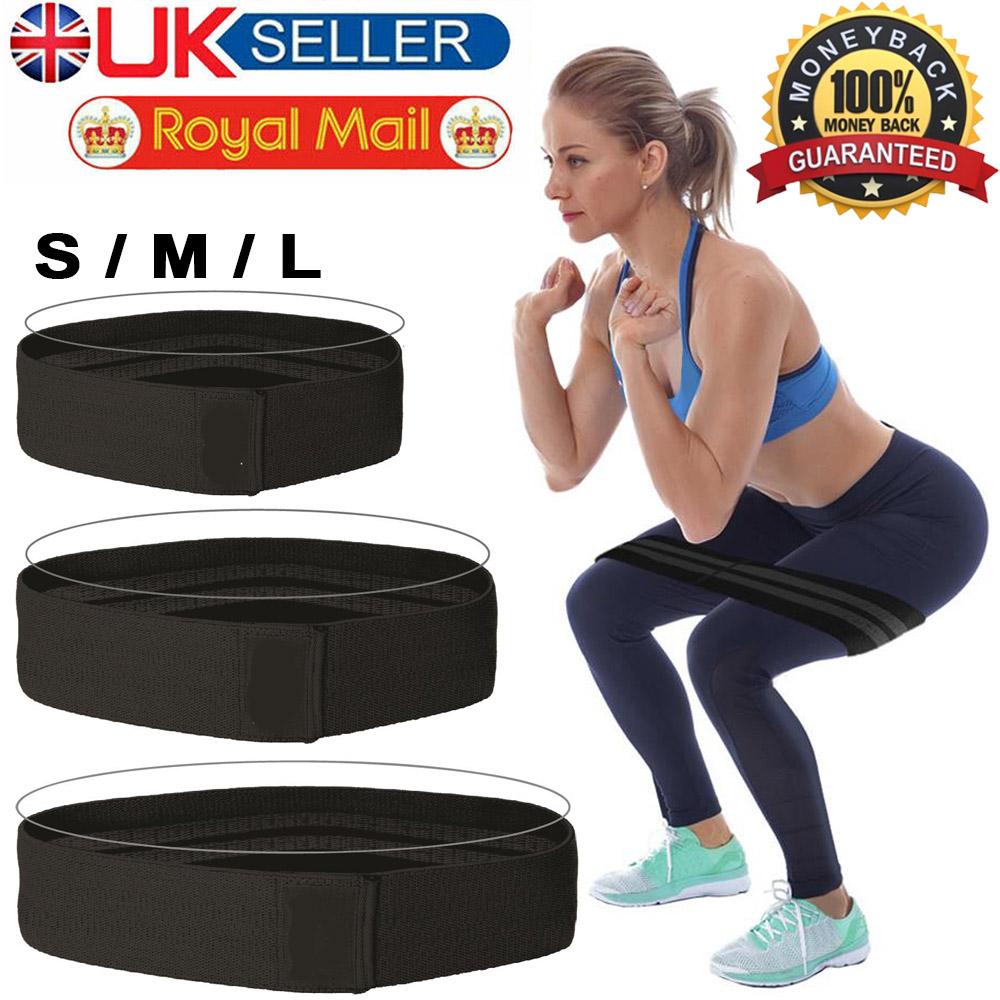 Resistance Bands Hip Circle Band  Glute Leg Squat Gym Exercise UK SHIP