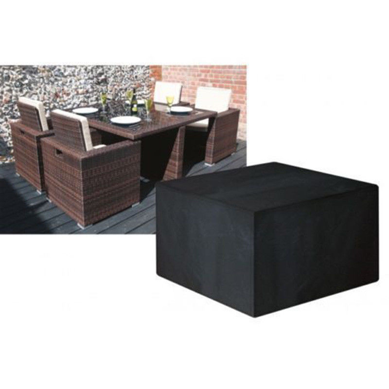 Heavy Duty Waterproof Rattan Patio Table Cover Outdoor ...