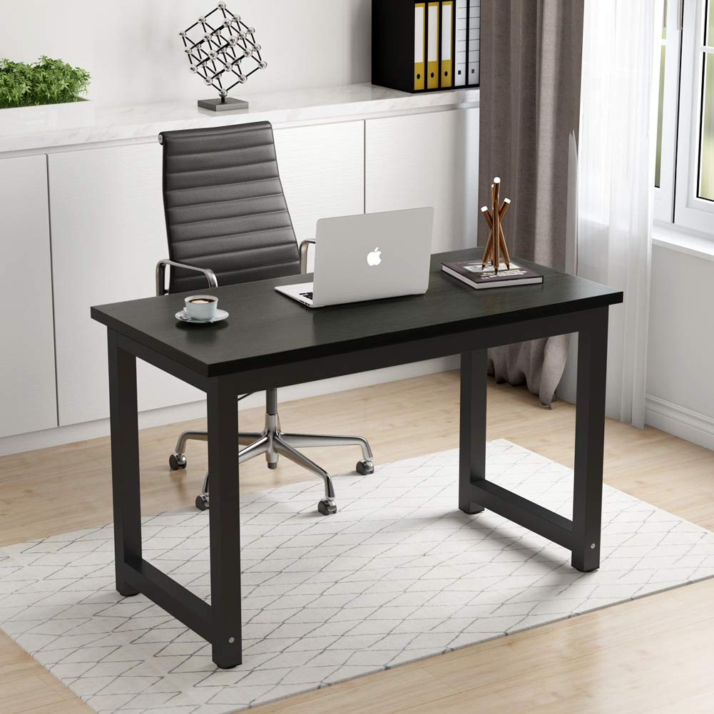 Computer Desk Home Office Writing Study Table WorkStation Wooden MDF Board Metal