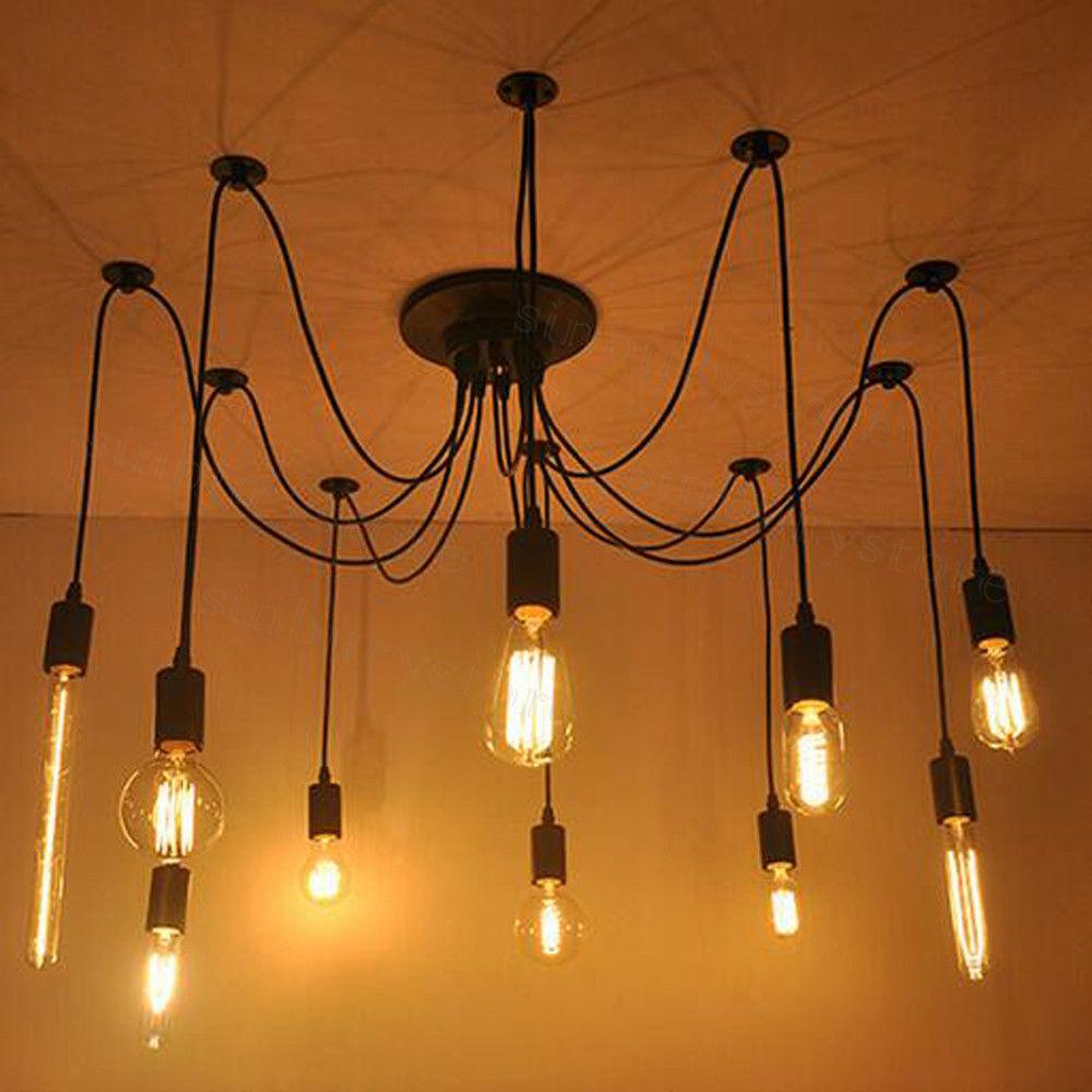Glas Hängelampe Decken Hänge Leuchter shabby Vintage Pendel Lampe Landhaus Loft