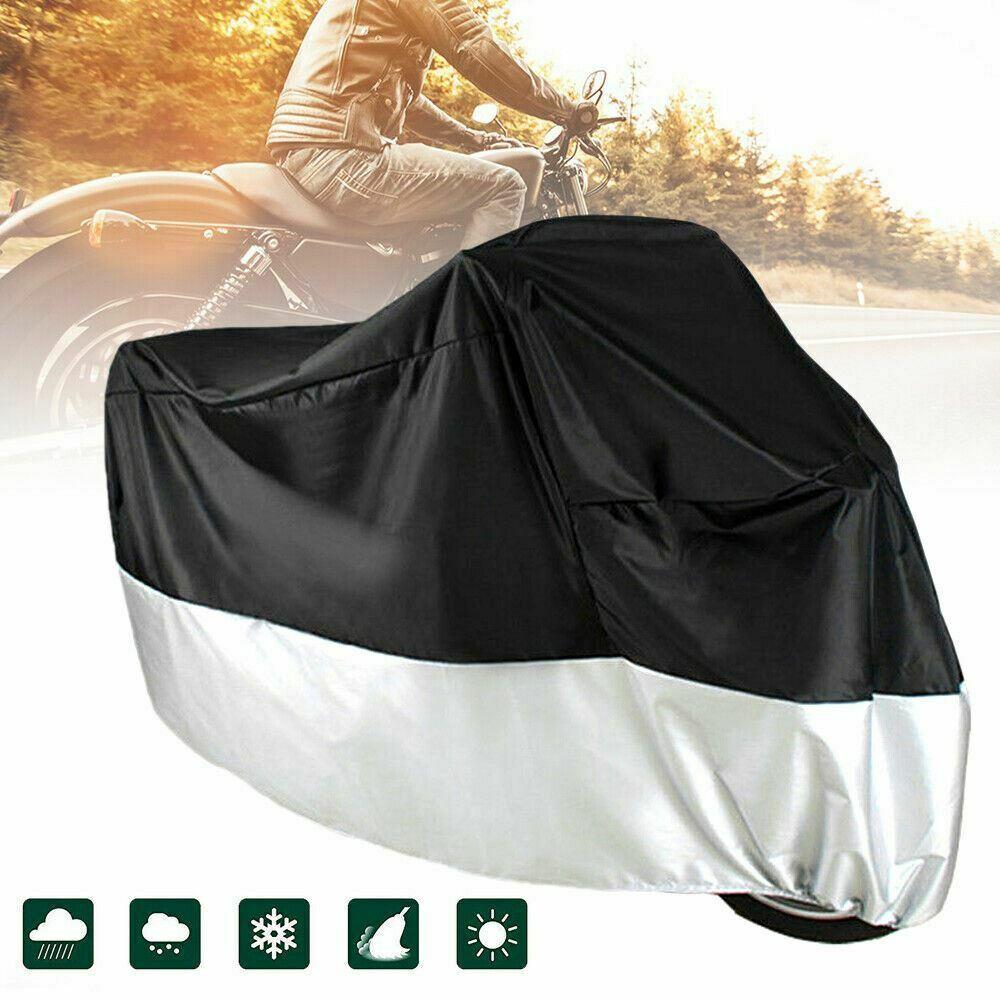 XXXXL Heavy Duty Waterproof Motorcycle Cover Oxford Dustproof Motorbike Shelter