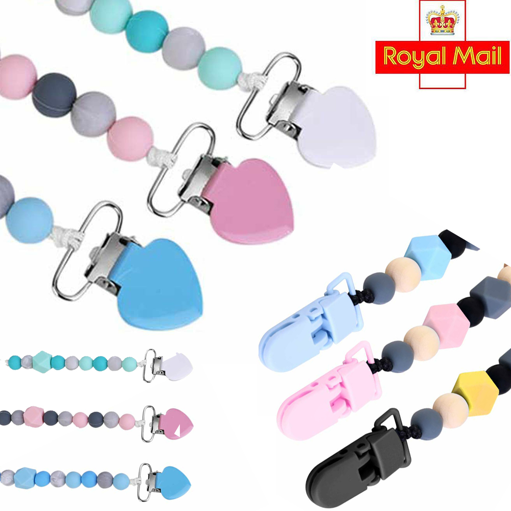Soother Silicone Dummy Clips Nipple Strap Baby Teething Pacifier Chain