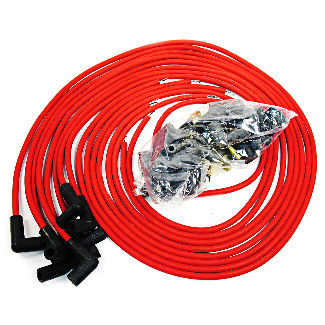 details about 9 5 mm red 90 degree spark plug wires for distributor chevy bbc sbc sbf 302 350