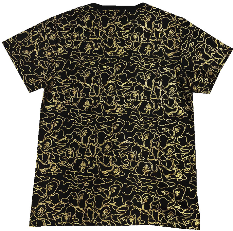 cebfce08 A Bathing Ape Camo Zipper Shark Head Bape T-shirt Short Sleeve Summer Tee  Tops *