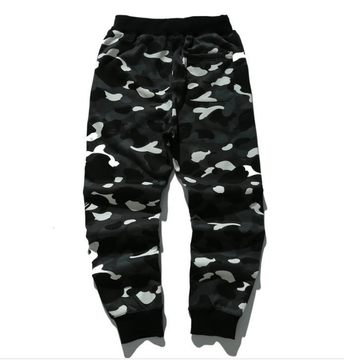 Men/'s A Bathing Ape Bape Shark Head Loose Casual Camouflage Sports Long Pants