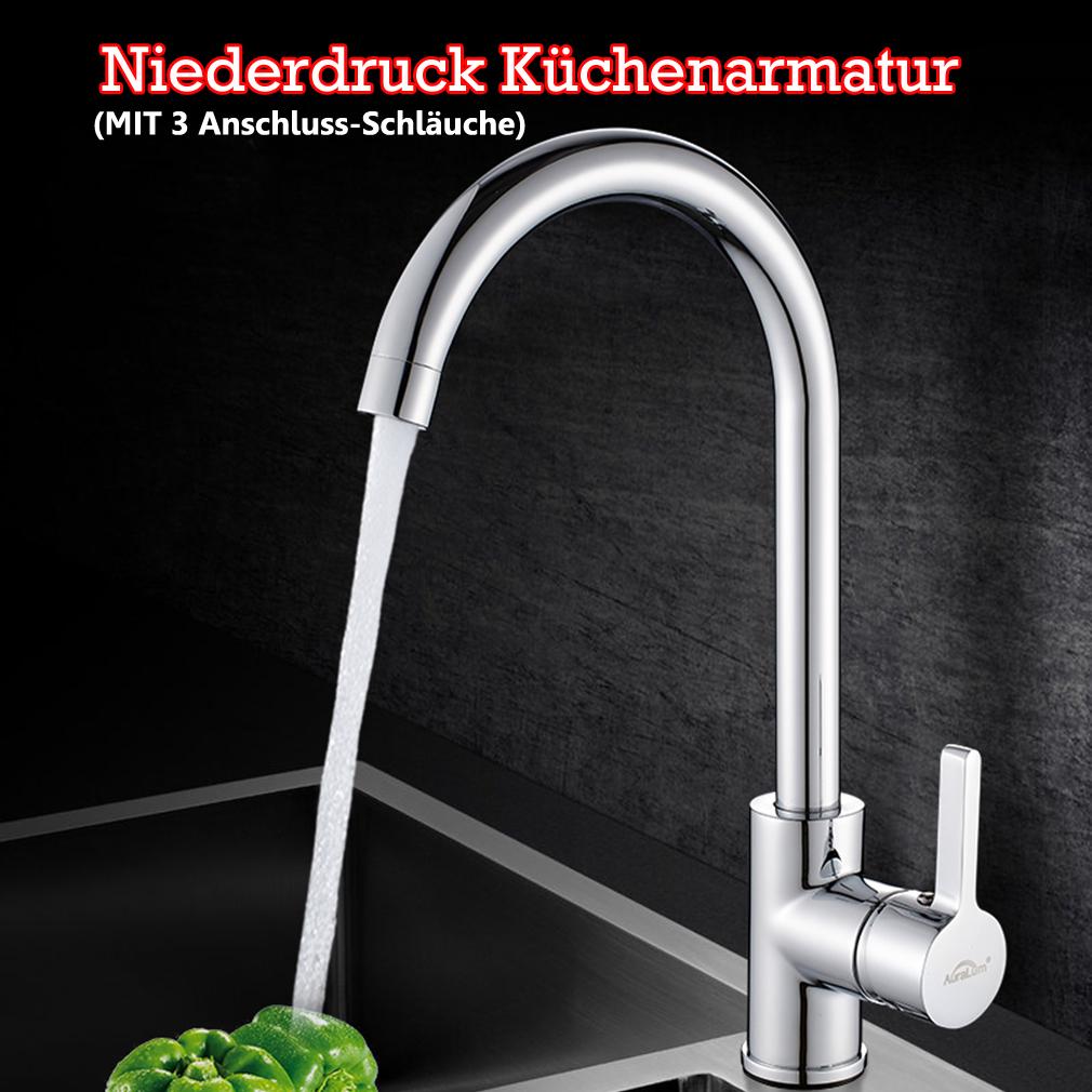 Details zu 19° Niederdruck Küchenarmatur Wasserhahn Spültischarmatur für  Durchlauferhitzer