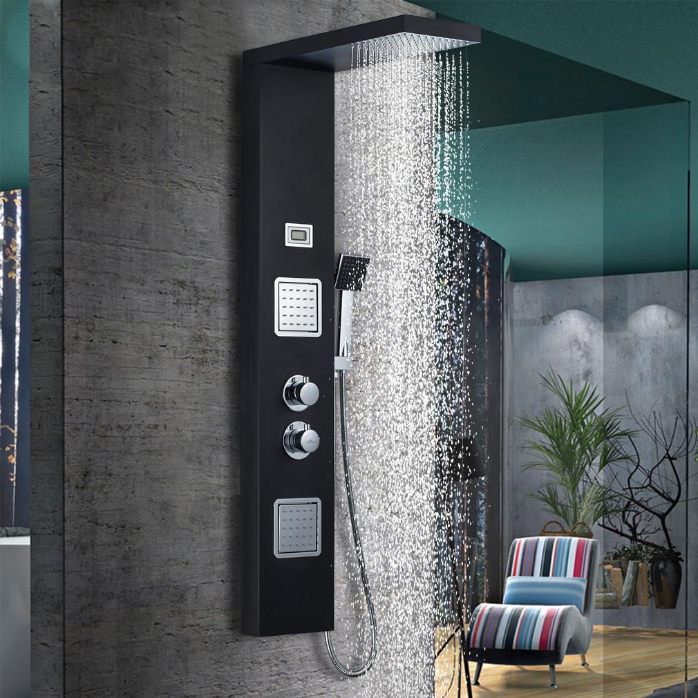 schwarze dusch-brausepaneele günstig kaufen | ebay - Regendusche Gunstig