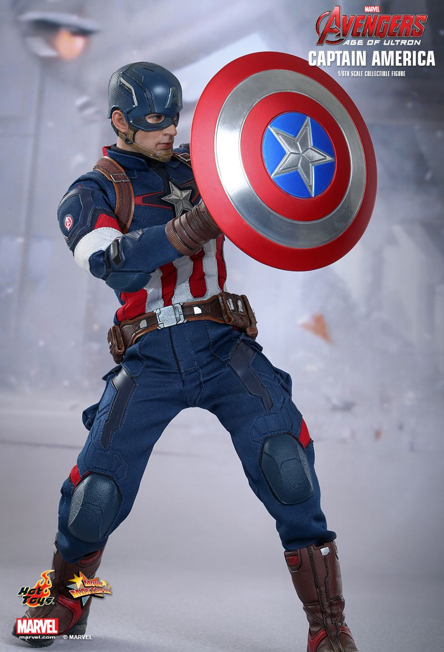 1//6 Scale New Hot Toys MMS174 Captain America Marvel The Avengers Stand Only