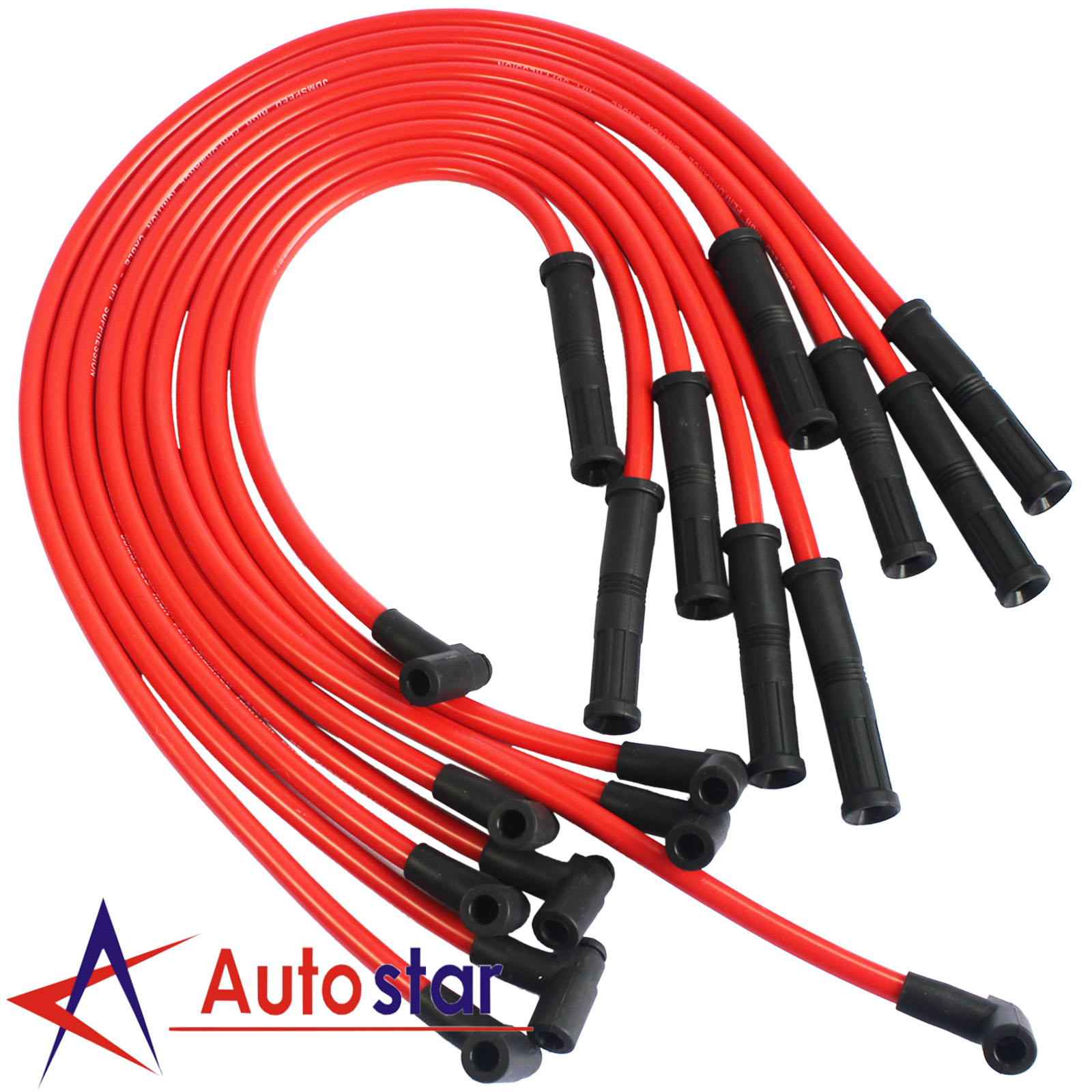 hei spark plug wires set 90 to straight for chevy bbc sbc 350 383, Wiring diagram