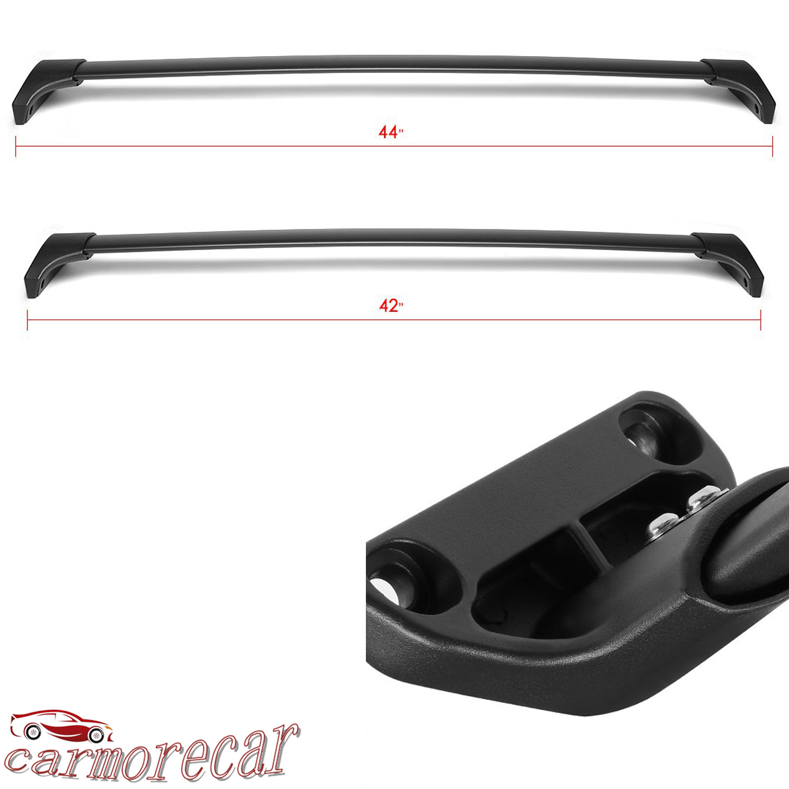 Set (2) Roof Rack Rail Cross Bar Luggage Carrier Crossbars