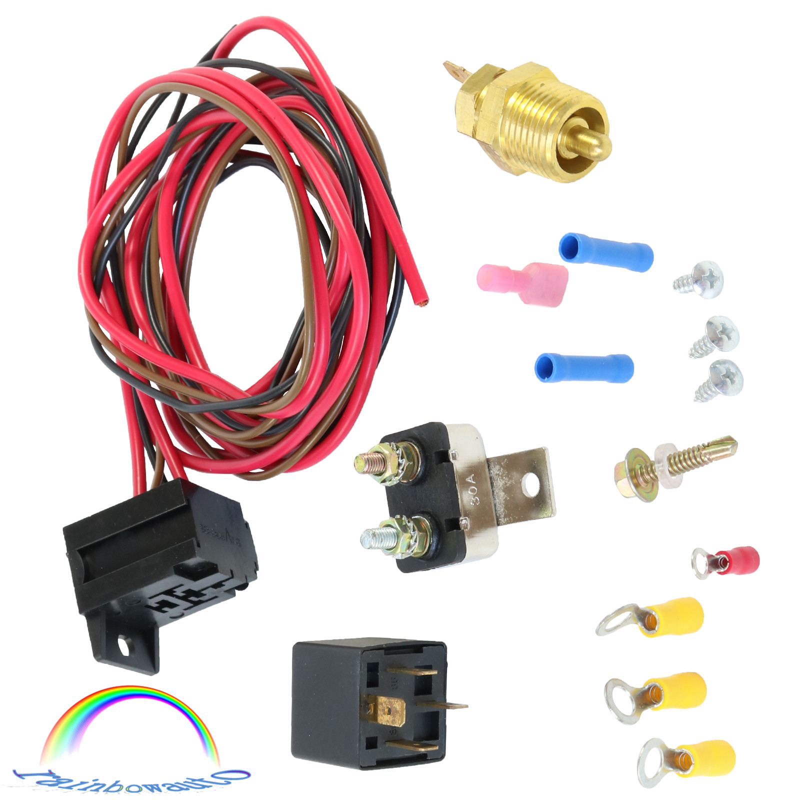 """Electric Radiator Engine Fan Thermostat Temperature Switch Relay Kit 3//8/"""" 427 US"""