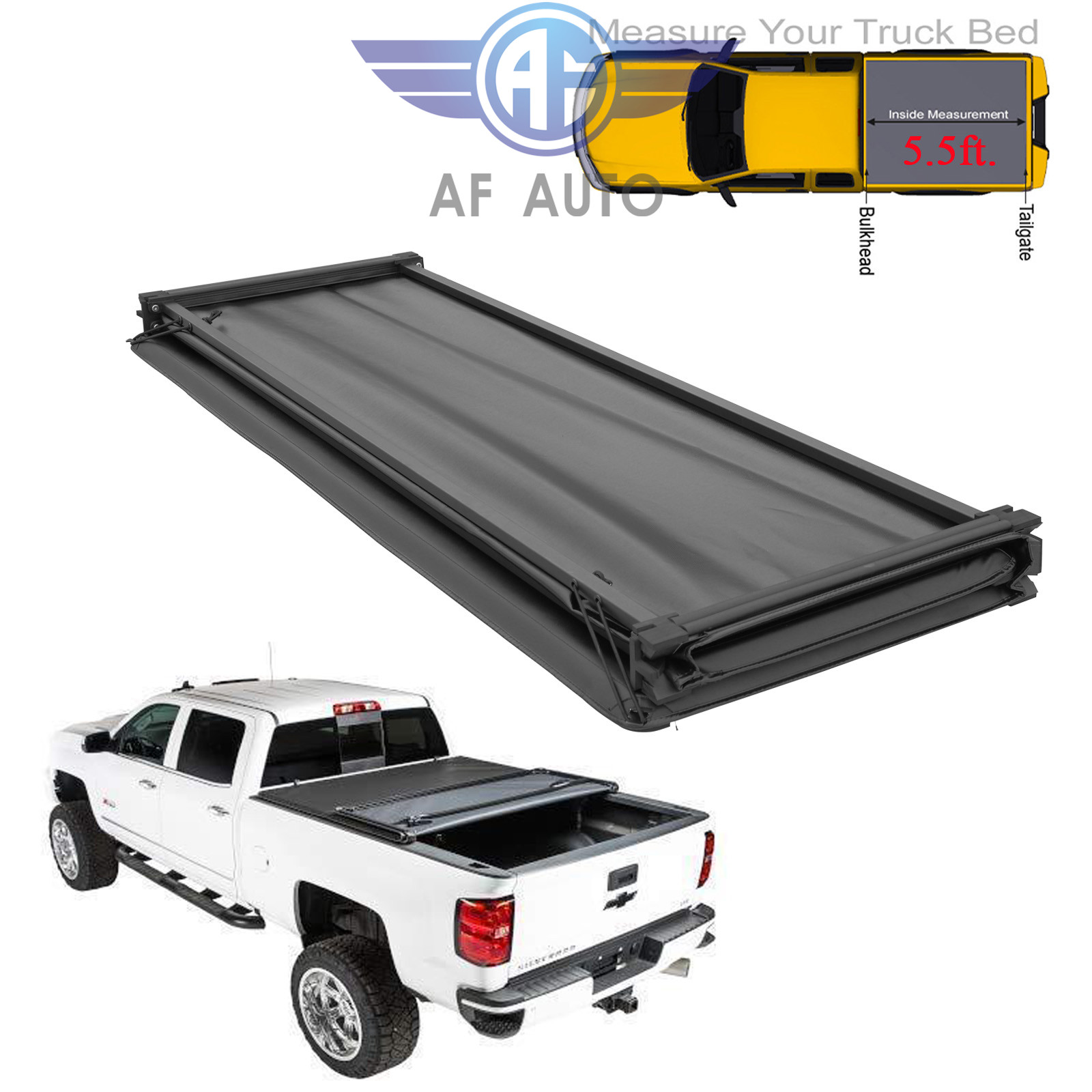 New Tonneau Cover Soft Tri Fold For Ram Crew Cab Pickup Truck 5 8ft Short Bed Auto Parts And Vehicles Truck Bed Accessories Magenta Cl