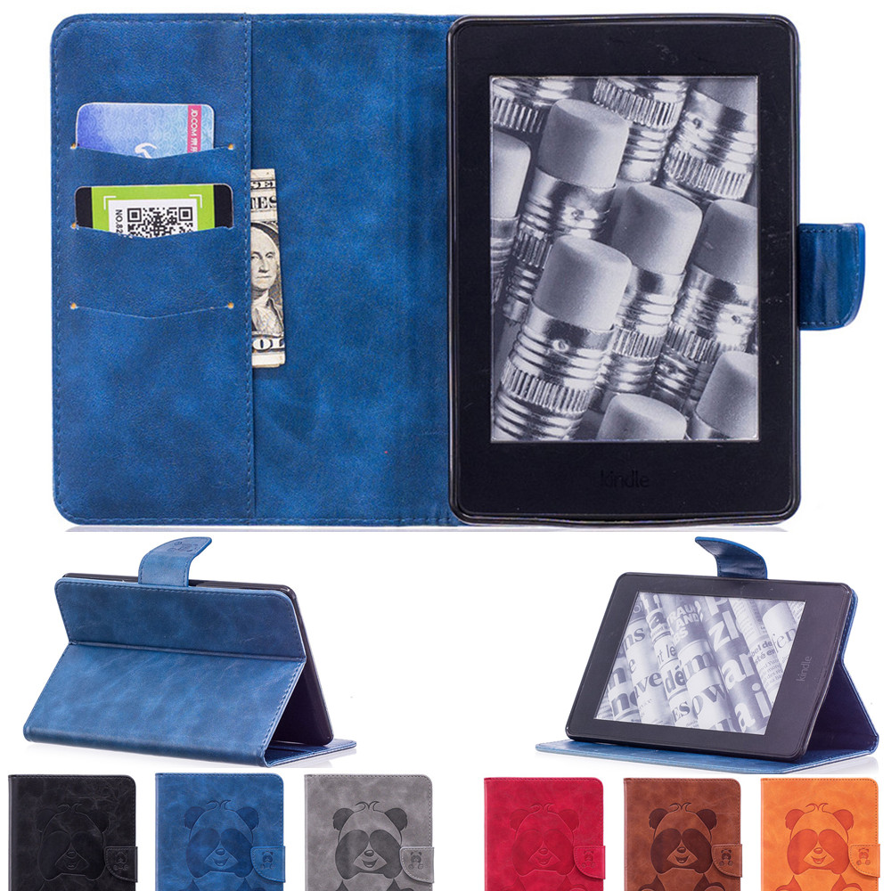 Details about Panda Embossed Tablet Case Smart Cover For Kindle Paperwhite  1 2 3 5 6 7 10th