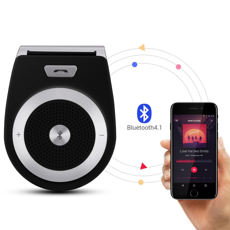 AGPTEK Bluetooth Car Speaker Wireless Speakerphone Hands