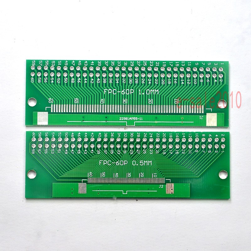 FFC FPC 60 Pin 0.5mm pitch to DIP 60 Pin 2.54mm Converter PCB Board Adapter Test