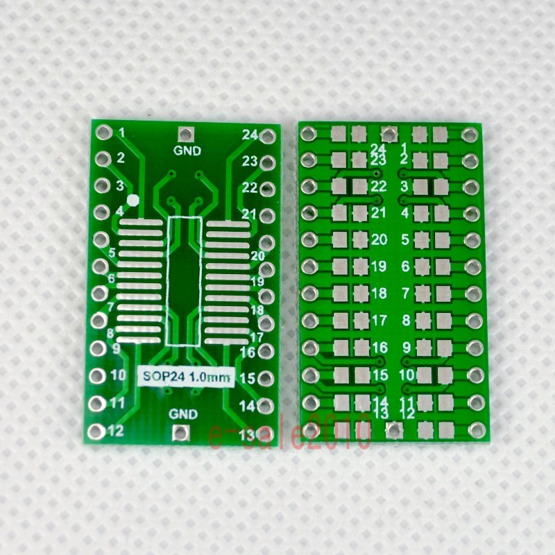 5pcs SOP24 SOIC 1mm to DIP24 Adapter PCB Board Converter Double Sides NEW F47