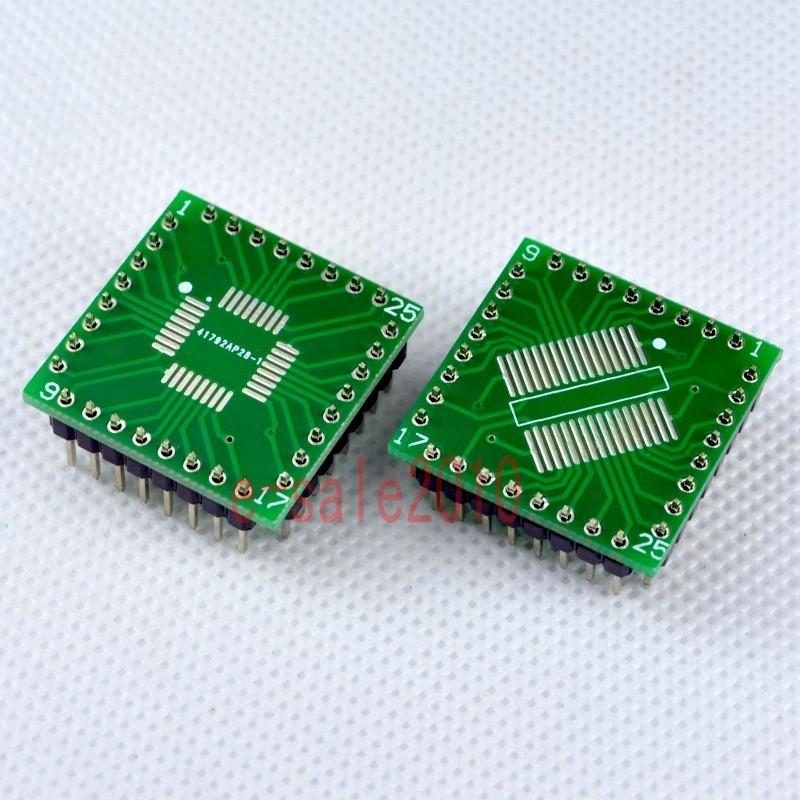 2PCS QFP//TQFP//LQFP//FQFP//SOP//SSOP32 to DIP Adapter PCB Board Converter