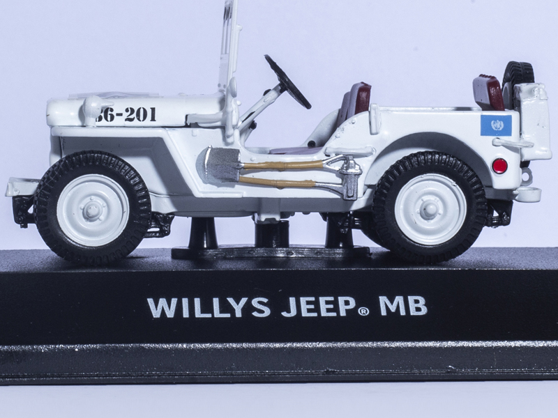 GREENLIGHT 1:43 JEEP WILLY/'S UNITED NATIONS DECORATION DIE-CAST WHITE 86308