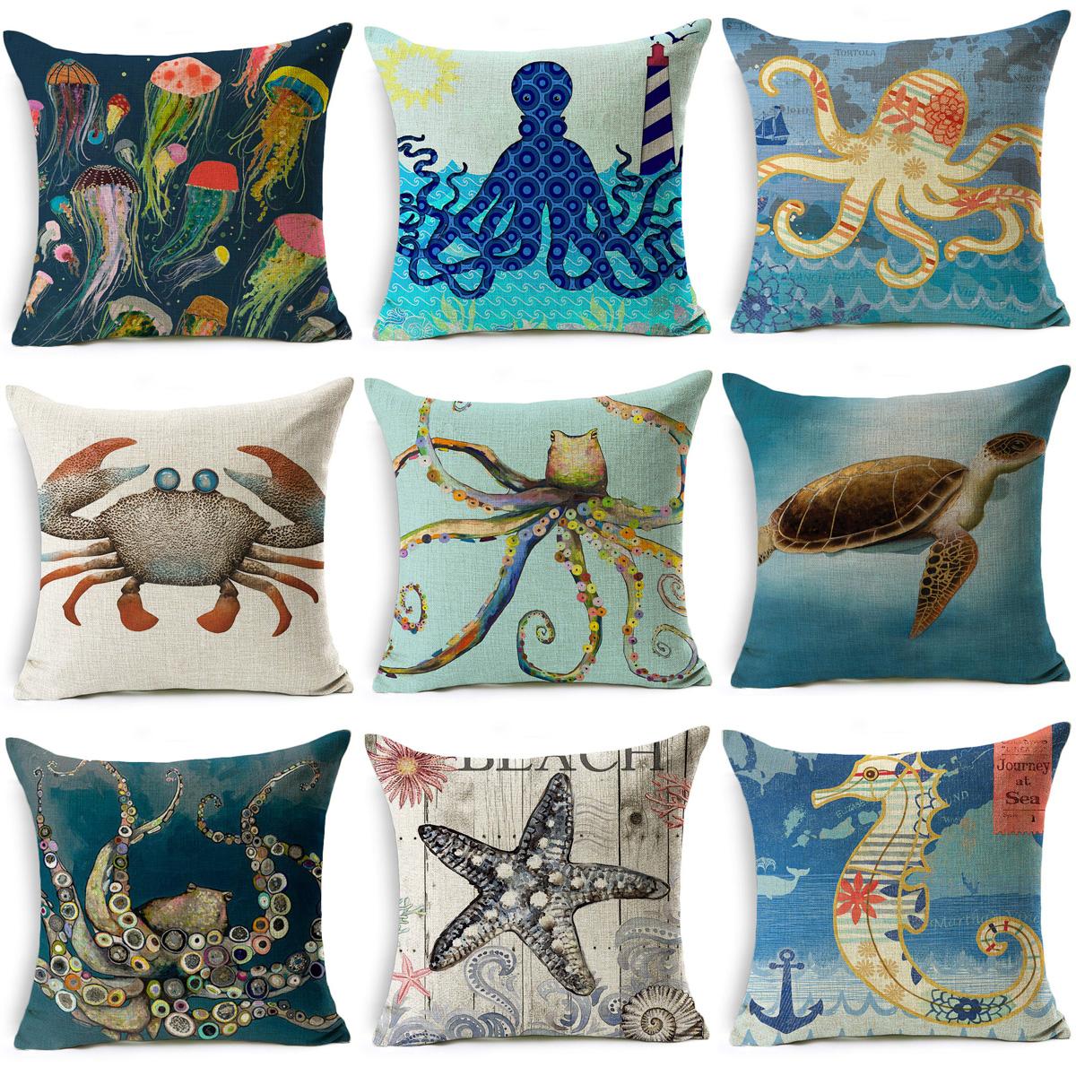Animal Cotton Linen Decor Home Retro Throw Pillow Case 18/'/' Cushion Cover