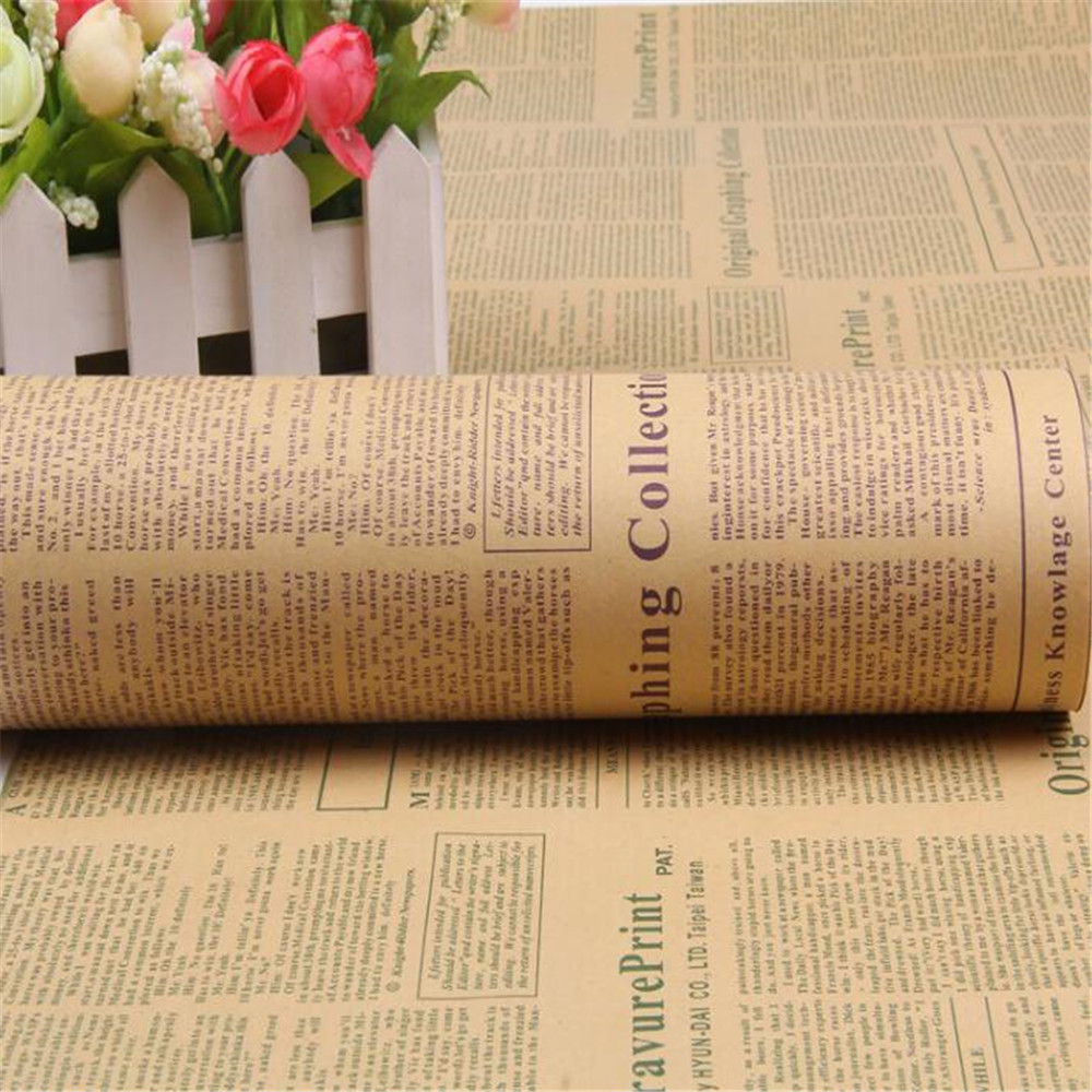 Vintage newspaper diy gift wrapping paper flower bouquet craft paper vintage newspaper diy gift wrapping paper flower bouquet mightylinksfo