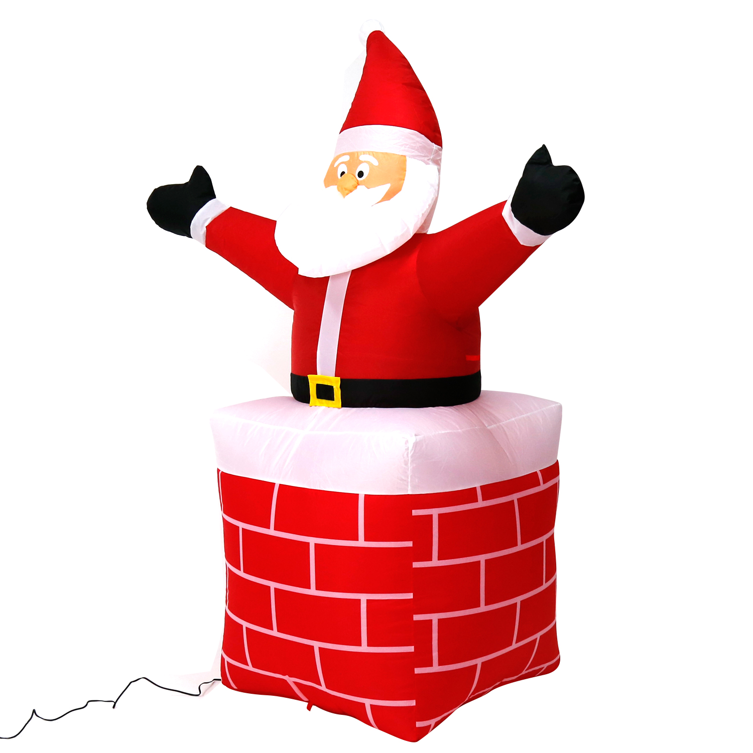 56 Ft Inflatable Chimney Santa Clause Holiday Outdoor Garden Decor