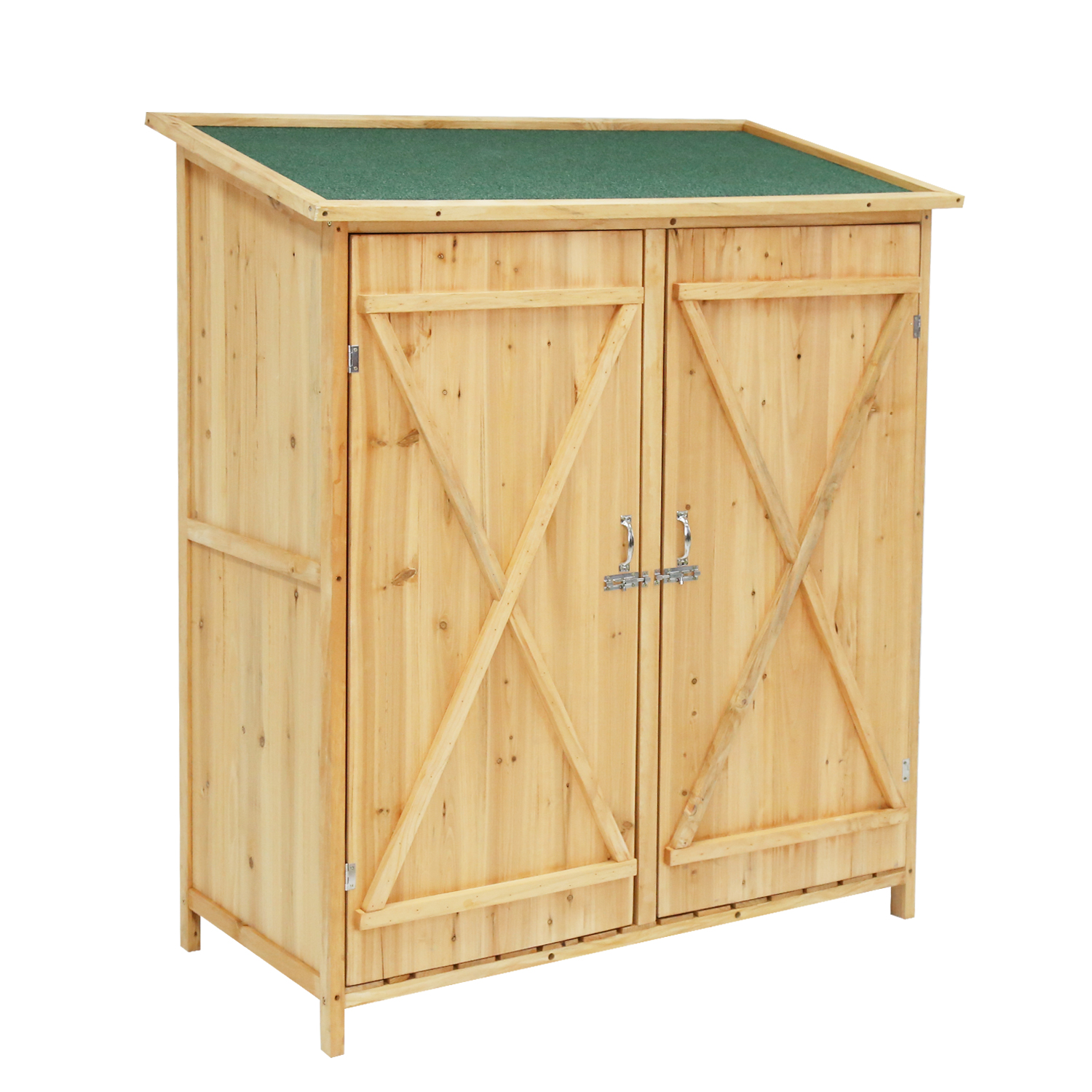 72d44fd3a90 Details about Garbage Storage Refuse Shed Horizontal Hidden Trash Can  Organizer Bin Outdoor