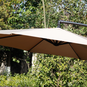 10 FT Garden Cantilever Hanging Umbrella Patio Sun Shade Outdoor ...
