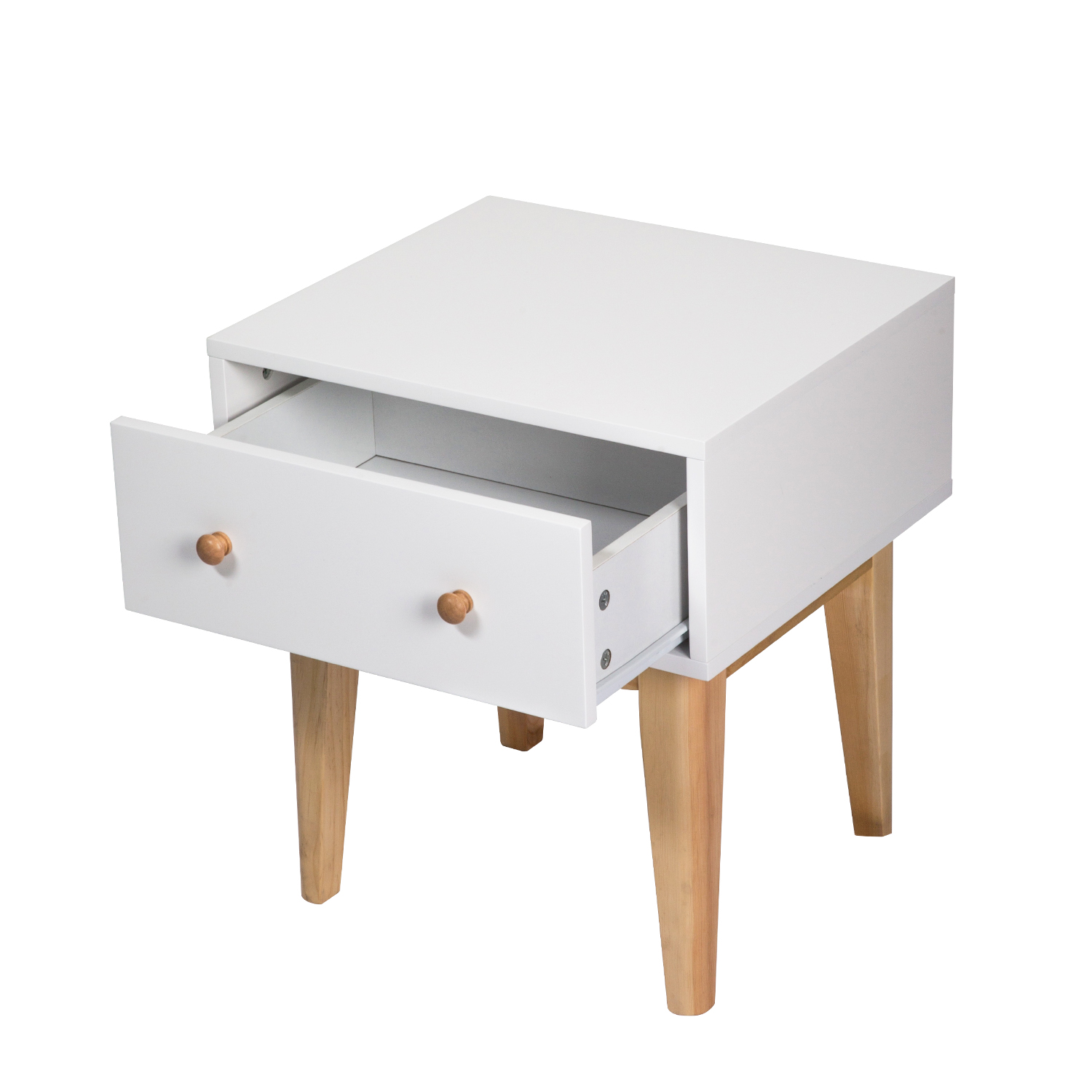 A Single Drawer Easy Assembly Side End Table Nightstand