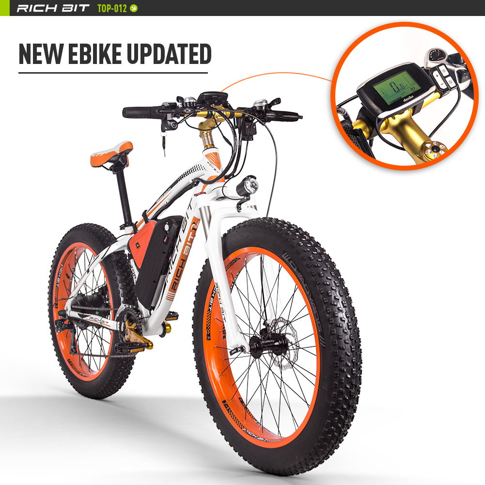RICHBIT-Electric-Bike-Bicycle-Fat-Tire-ebike-21s-48V-1000W-Compute-Speedometer