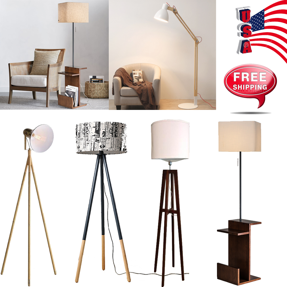 Details About Modern Style Standing Floor Light Lamp Lighting Bedroom Night Lamps Reading Home
