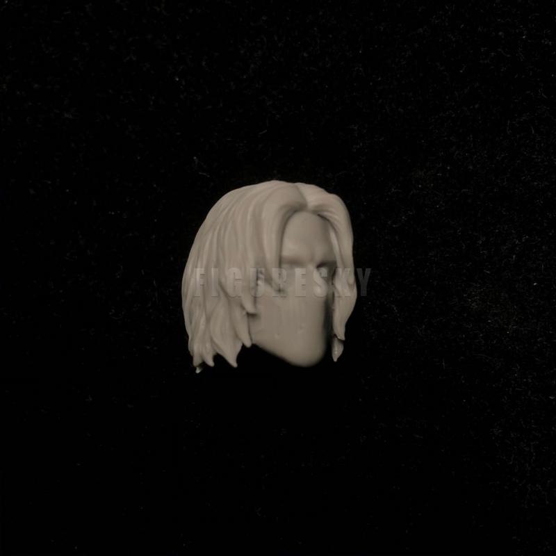 Painted 1//12 Scale Sebastian Stan Winter Soldier Bucky Barnes Head Sculpt for ML