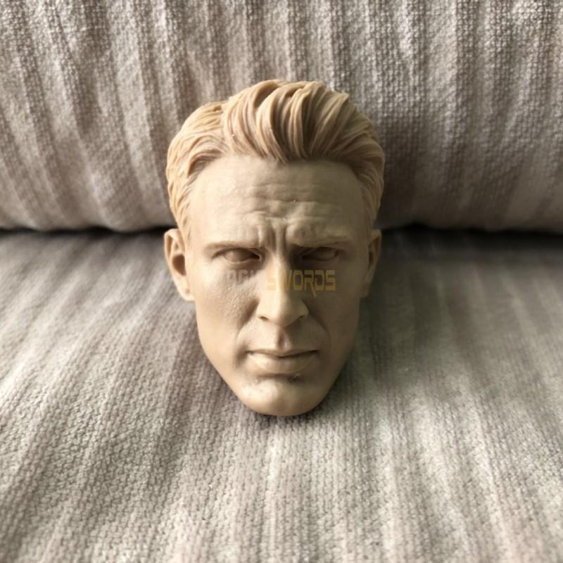 "Custom 1//6 scale Captain America Chris Evans head sculpt fit 12/"" figure body"