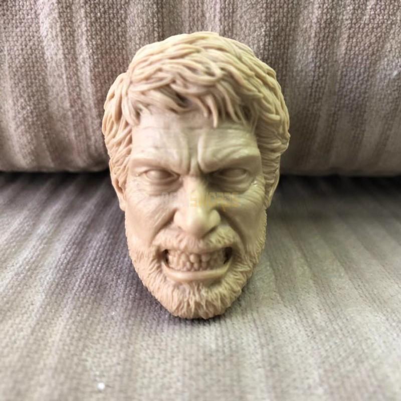 Free Shipping blank 1//6 Scale The Last of Us TLOU Joel Head Sculpt unpainted AU