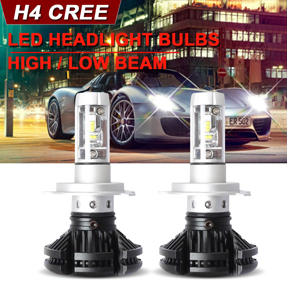 Car LED Headlight Bulbs Kit H4 9003 HB2 High Low Beam For  Kia Rio 2001-2017