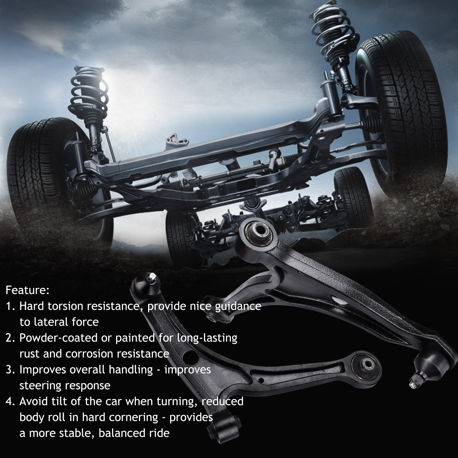 Front Lower Control Arm Suspension Kit For 01-06 Acura MDX
