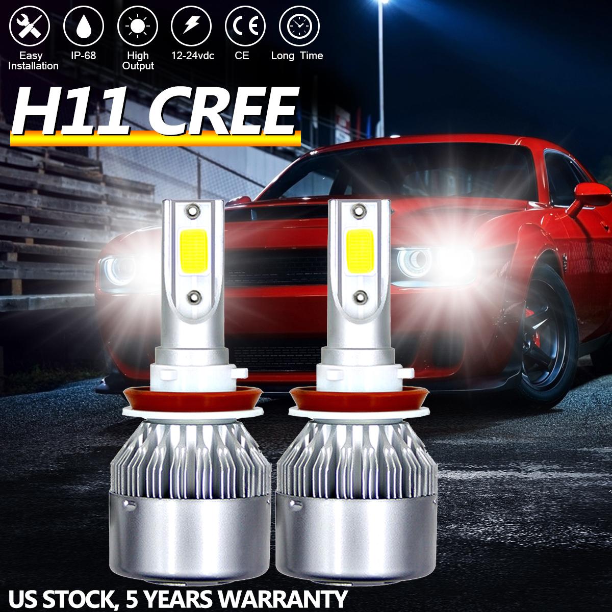 H8 H9 H11 1800W 270000LM LED Headlight Bulbs Conversion Kit 6000K High Low Beam