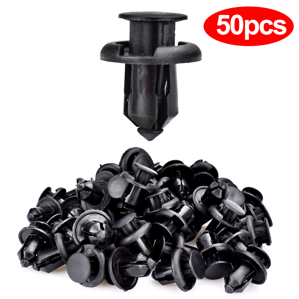 50pcs Plastic Rivet Fastener Bumper Clip Retainer Screw ...