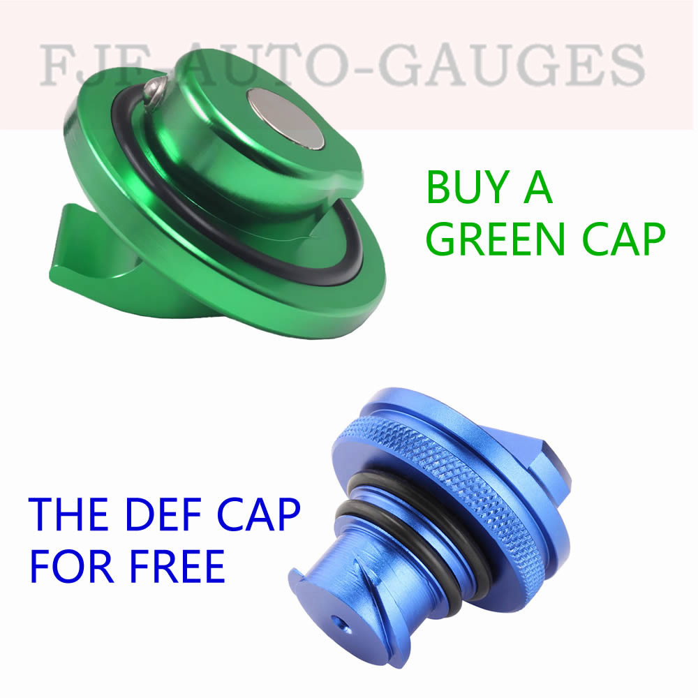 Green Billet Aluminum Fuel Filler Gas For 2014 Up Jeep