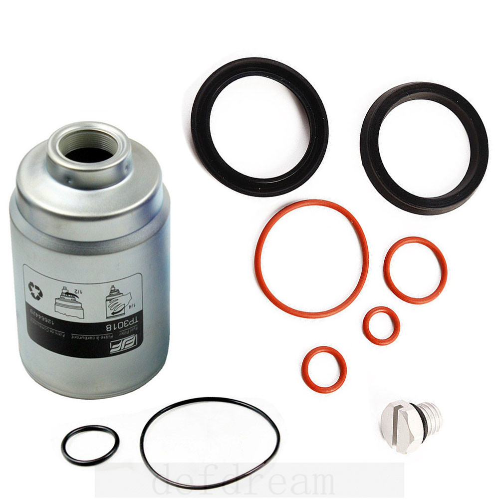 def seal rebuild kit + bleeder screw for duramax & tp3018 fuel filter with  seals