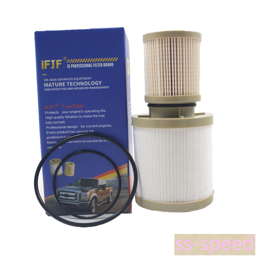 2pcs For Ford Fuel Filter Diesel 60 F250 F350 F450 Powerstroke 2002 Fd4604 Fd4616