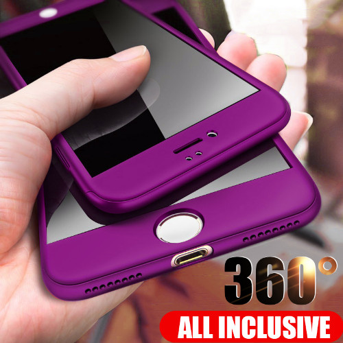 Luxury 360° Hybrid Case for iPhone 8 8 Plus Hard Back Cover for ...