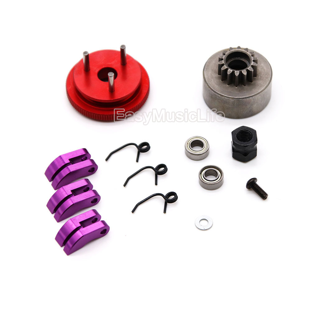 Clutch Bell Shoes 14T Gear Flywheel Sets Engine Nut For RC 1:8 HSP HPI Buggy
