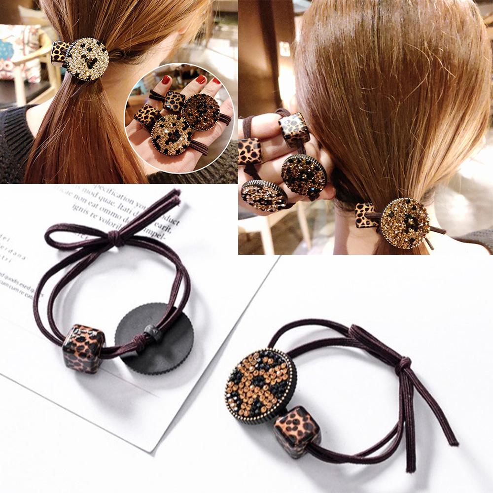 Pretty Glitter Rhinestone Ponytail Holder Elastic Hair Rope Girl Bling Hair Rope