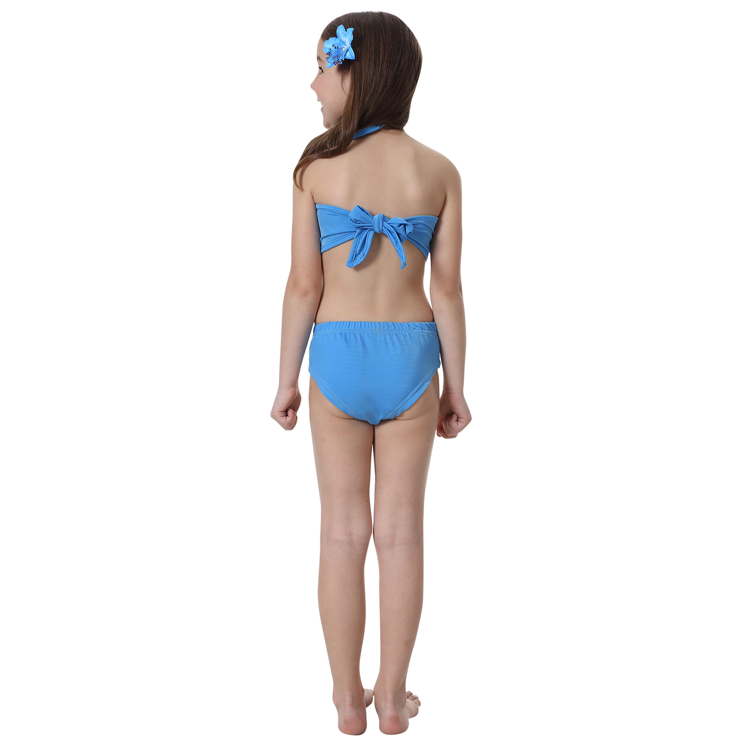 10f00385b844a Kids Girls Mermaid Tail Monofin Swimmable Swimming Costume Cosplay Pool  Party