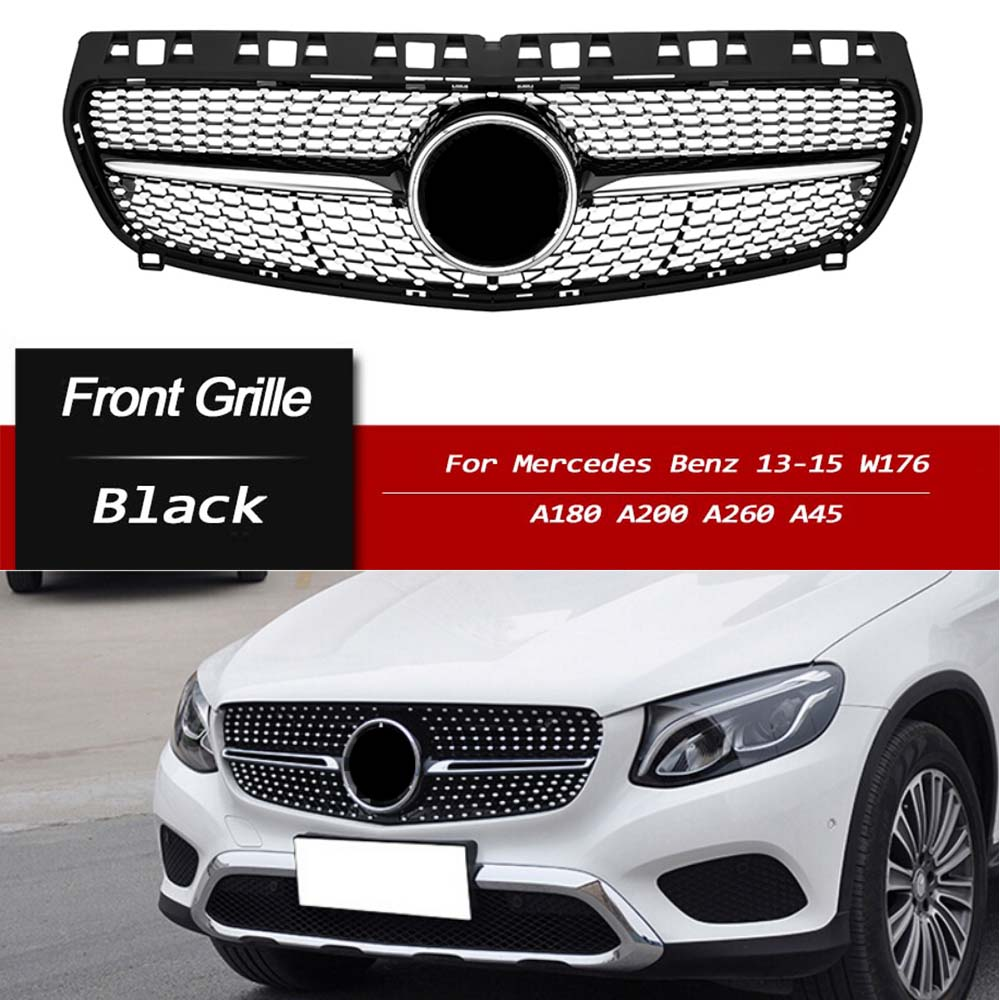Diamond Front Grill Grille For Mercedes-Benz W176 A200