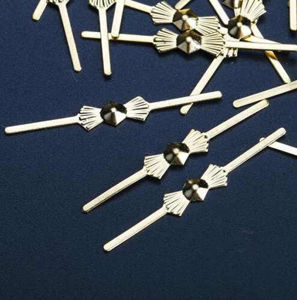 500PCS 33mm Lamp Chandelier Parts Beads Connector Metal Bowtie Gold Pins Parts