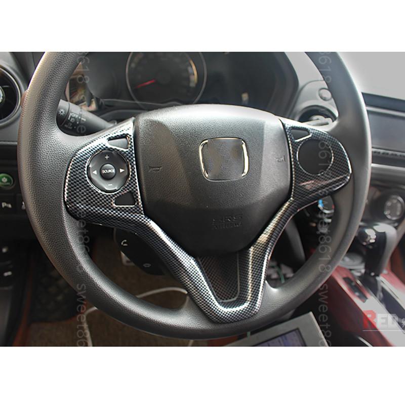 Carbon fiber Car Steering Wheel U Shape Decorative Trim For Honda Vezel HR-V HRV