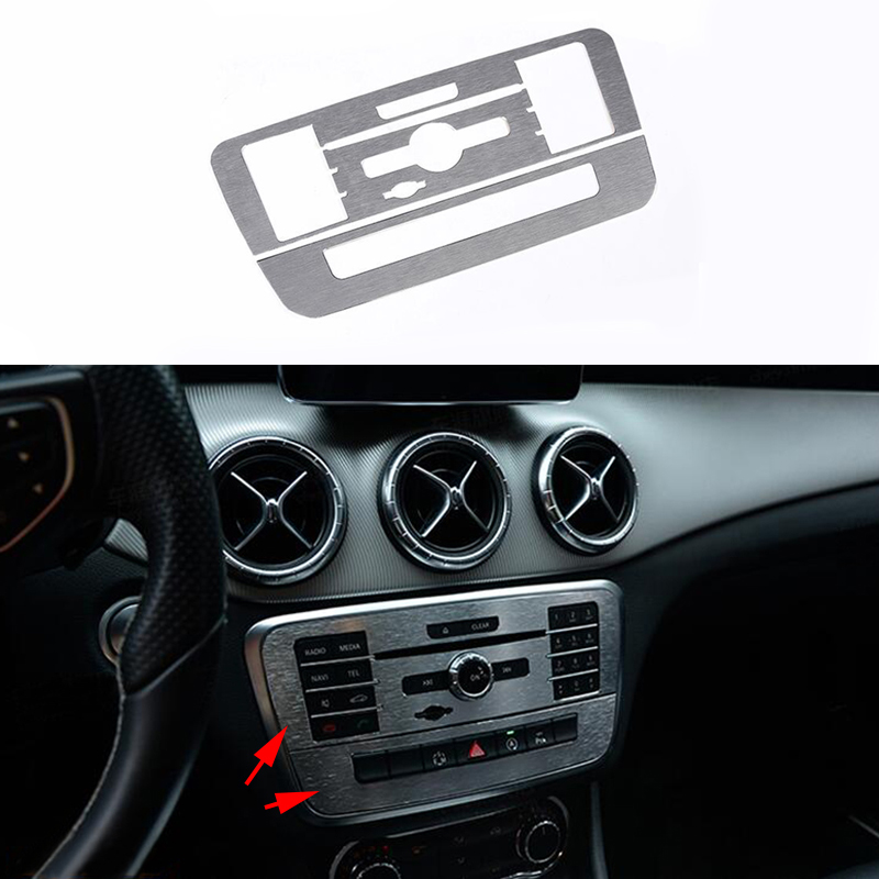 Alloy Front Center AC Control Frame For Mercedes-Benz CLA GLA Class C117 X156