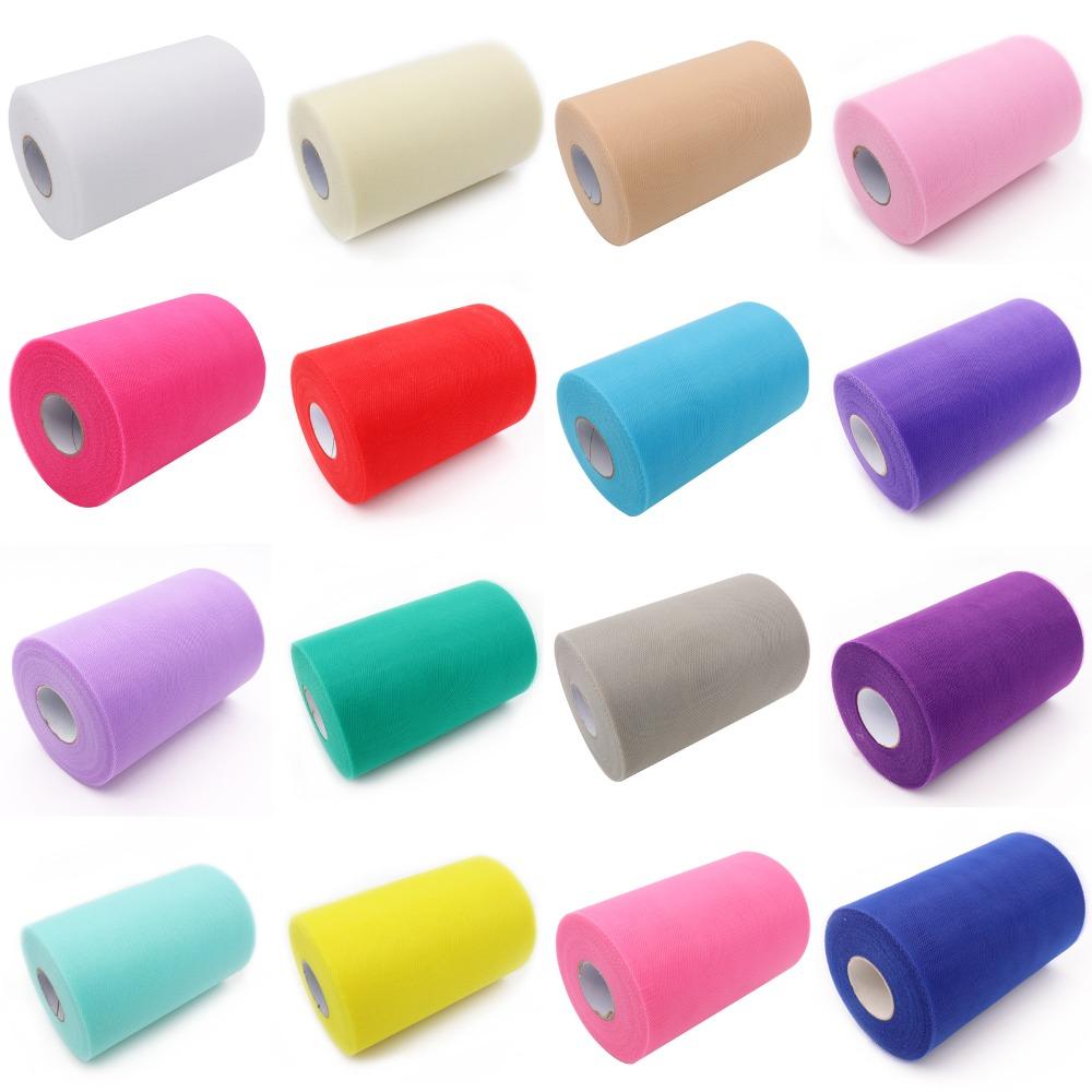 """Netting Craft Fabric Soft Nylon Wedding decor 6/"""" x 25 yards TUTU TULLE ROLL"""