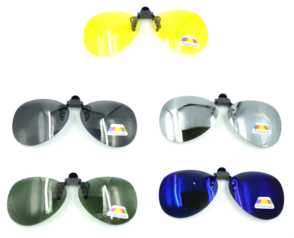 b6a415a107 Details about Outdoor Mirror Driving Clip On Lenses Flip Up Polarized  Sunglasses Fishing